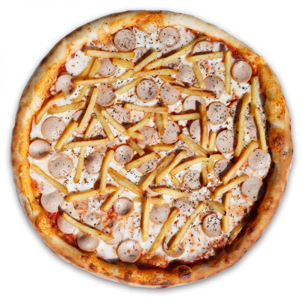 Пицца детская с сосисками  32 см (классическое)