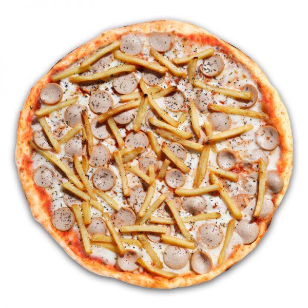 Пицца детская с сосисками  32 см (тонкое)