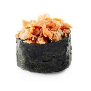 Гункан с лососем терияки
